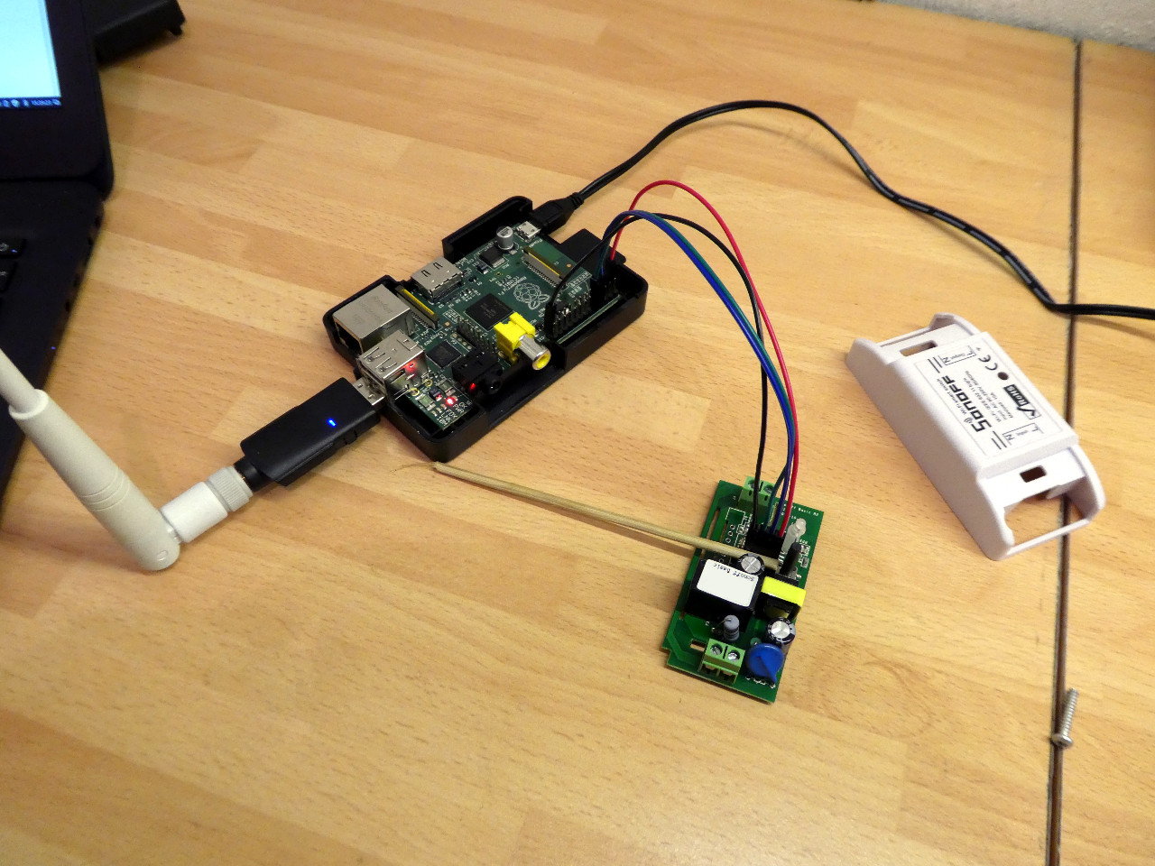 Flashing a Sonoff Basic With a Raspberry Pi Model B